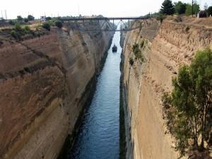 Řecko: Korintský průplav